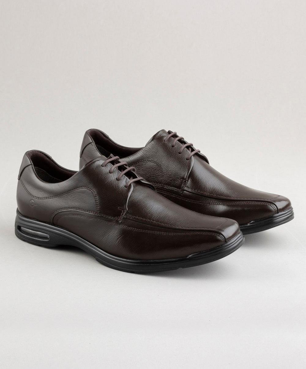 Sapato Smart Comfort Air Spot Brown Cadarço