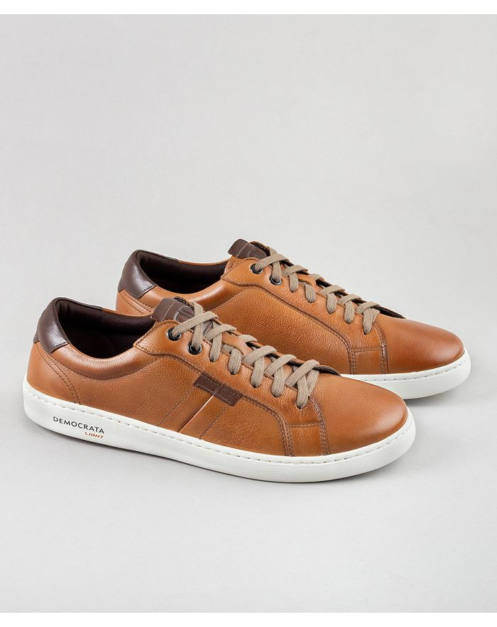 4065f861ba Sapatênis Denim Hover Light Tan Tabaco - Democrata Mobile
