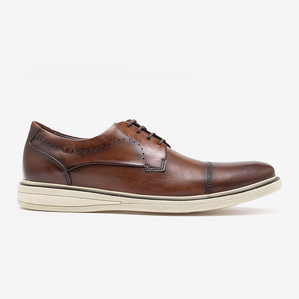 Sapato de Couro Metropolitan Bay Tan Cadarço